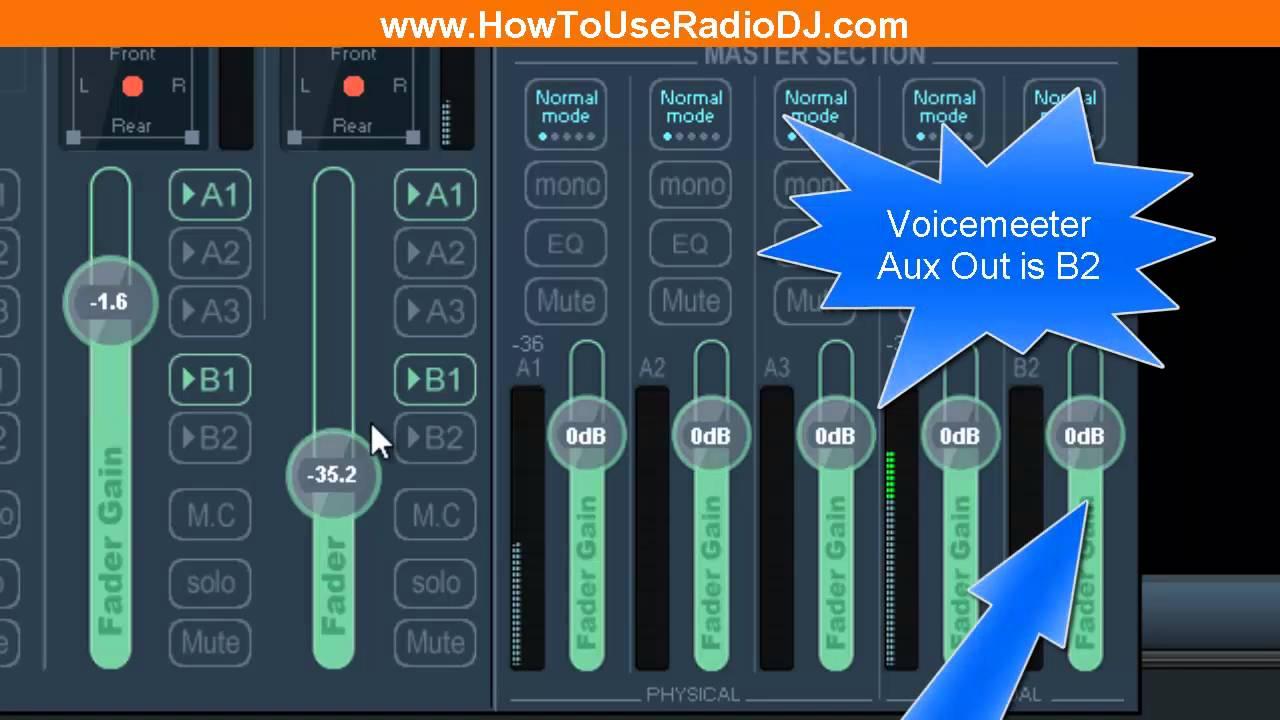 How To Use Voicemeeter Banana With RadioDJ -