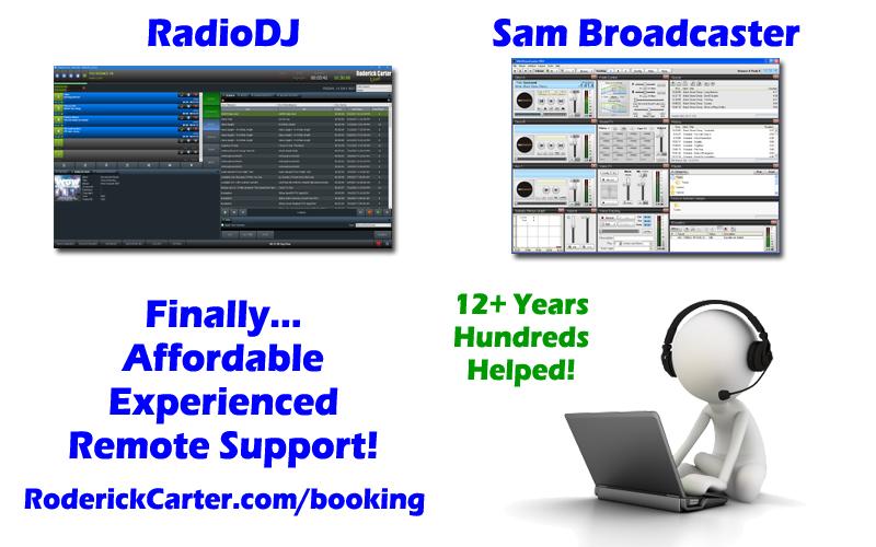 Sam Broadcaster & RadioDJ Remote Support