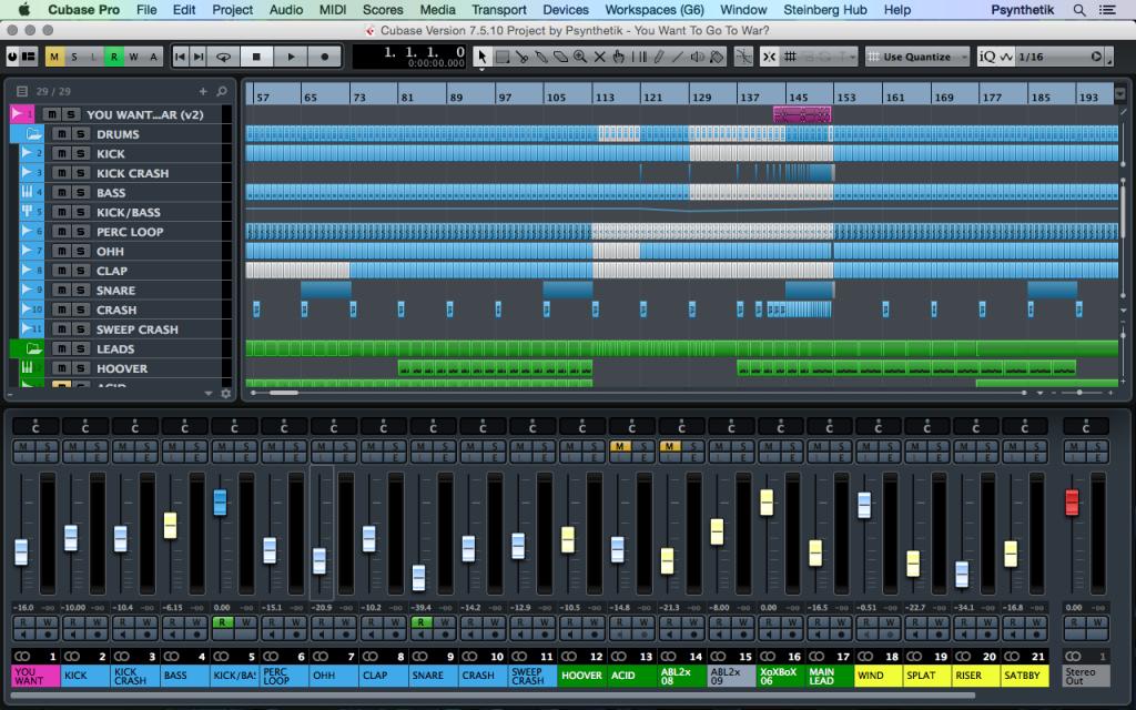 Mix Templates for Cubase, Protools and Logic Pro X