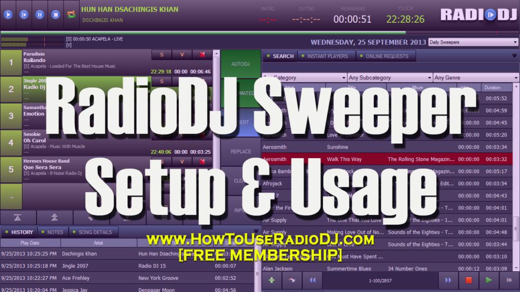 RadioDJ Sweeper Setup